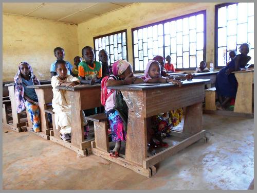 Eleves d'une école en Centrafrique