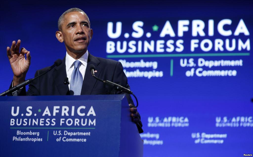 Barack Obama au sommet USA-Afrique(Photo crédit:https://www.lavoixdelamerique.com)